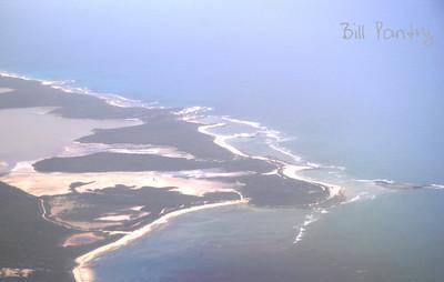 Bahamas from the airplane Bahamas, Long Island