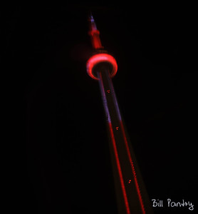 CN Tower at night from Intercontinental Hotel