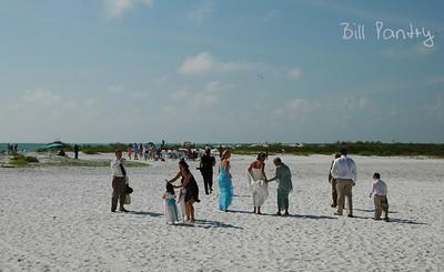 wedding on Fort DeSoto Beach, St Petersburg