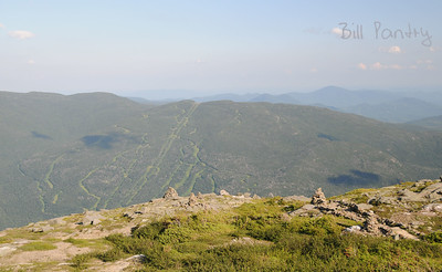 view of Wildcat Ski area from Mt Washington, New Hampshire