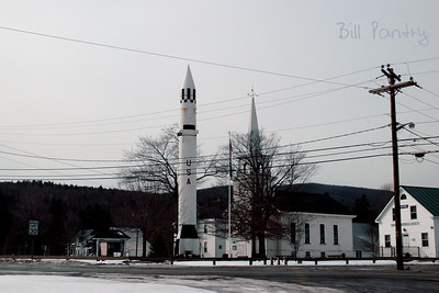 Warren, New Hampshire. A Redstone Rocket, the same kind that hurled New Hampshire native Alan Shepard into space.