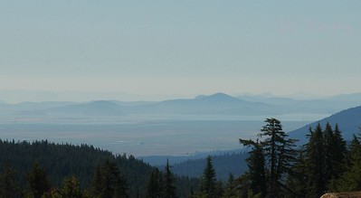 view from The Lodge at Crater Lake National Park, Oregon