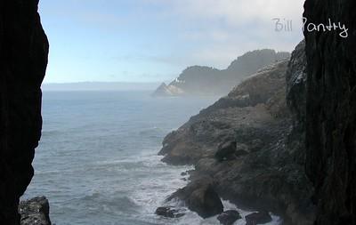 Heceta Head Lighthouse from Sea Lion Cave, Oregon Coast Hwy