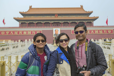 The brief walk brought us to the Forbidden City.
