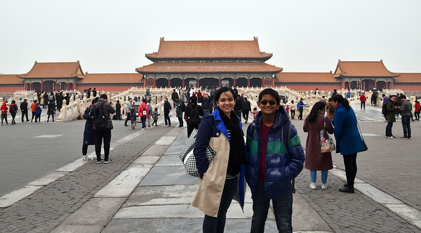 The Forbidden City was constructed from 1406 to 1420 AD by the Ming Dynasty rulers and was in use from 1420 until the end of the Qing Dynasty in 1912.