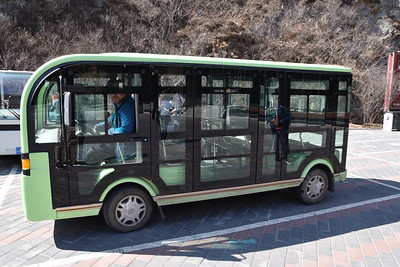 """There is a small """"shuttle"""" ride from the visitors' centre in Jinshanling to the main entrance."""