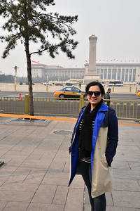 The Monument of National Heroes (a.k.a. Monument to the People's Heroes) was easily visible, as was the Mausoleum of Mao ...