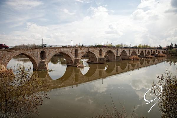 El puente de Zamora sobre el Duero