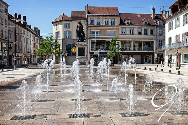 Les fontaines de Lons le Saunier