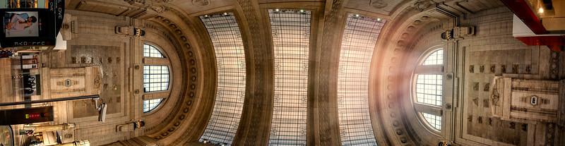 Milan Train Station ceiling
