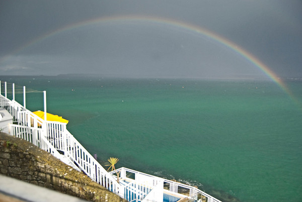 Rainbow on walk from St Ives village to the B & B