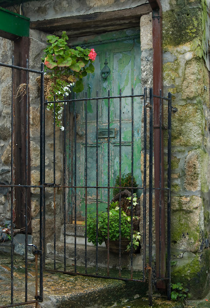 St. Ives Door on a rainy day