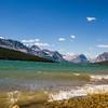 Lake Sherburne near Many Glacier in Glacier National Park