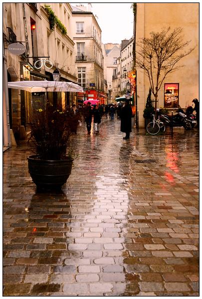 Le Marais in the Winter Rain