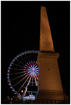 Grande Roue de Paris and Obelisk - Place de la Concorde