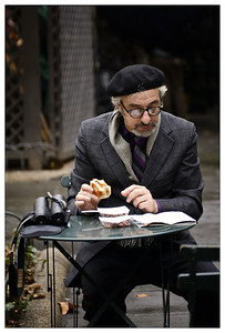 Bryant Park Beret, Book, Bagel and Binoculars