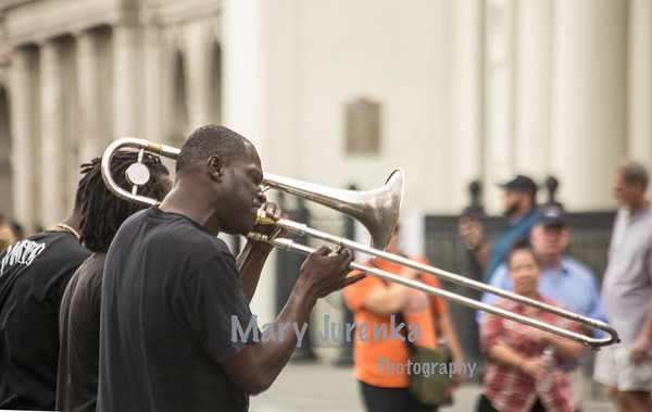 Brass band in Jackson Square, March 2015