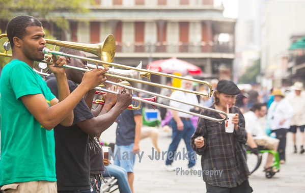 Brass at Jackson Square in New Orleans