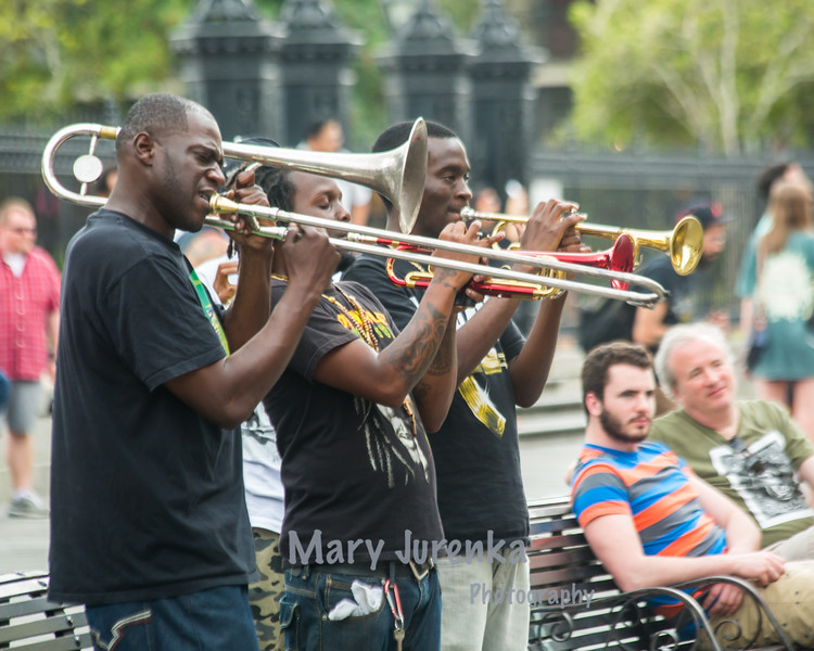 Brass Band at Jackson Square in New Orleans