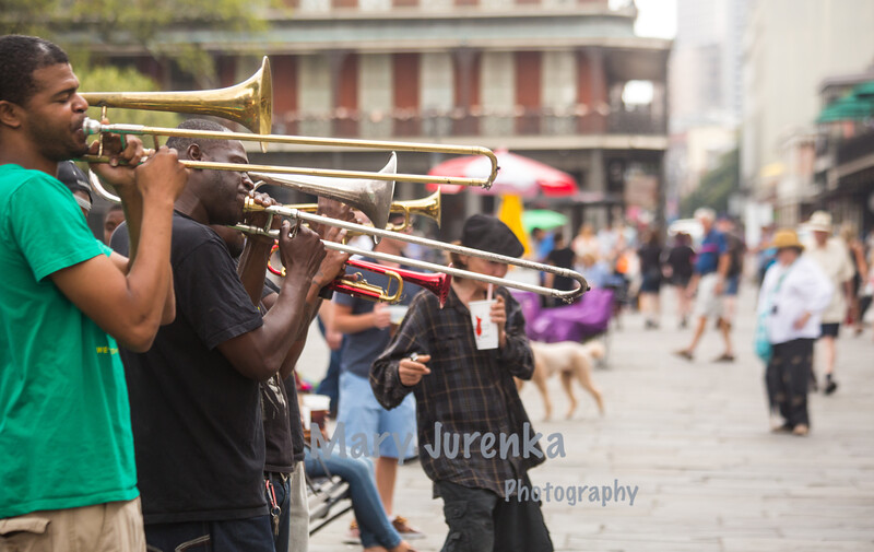 Brass Band in Jackson Square in New Orleans-March 2015