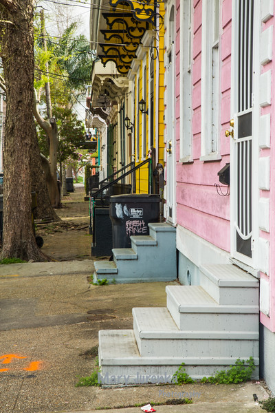 "Row of ""Shotgun"" Houses in New Orleans"