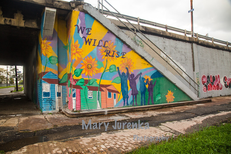 Inspirational Mural in Katrina-Ravaged Area