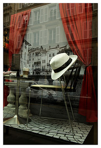 Shop window.  I really like hats. They seem to make it into a lot of my pictures.