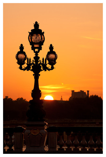 Sunrise from Pont Alexandre III