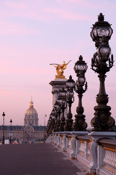 Post Sunrise - Pont Alexandre III -  Invalides in background