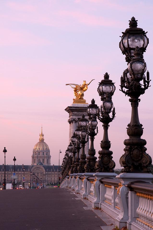Post Sunrise - Pont Alexandre III -  Invalides in background