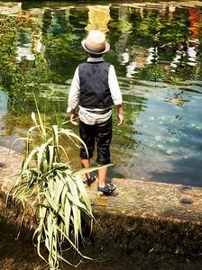 Boy in provinciale outfit at L'Isle-sur-la-Sorgue