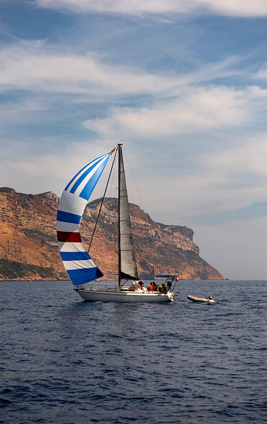 Sailboat on the Mediterranean