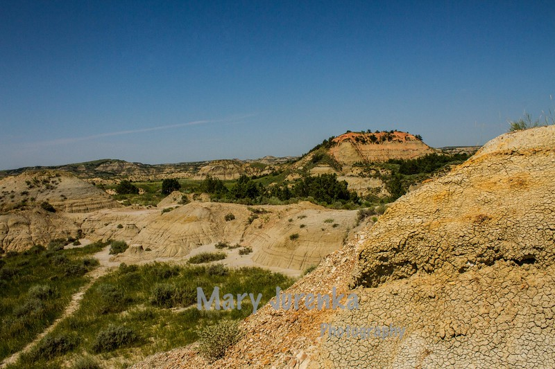 This is a view from Painted Canyon Trail in Theodore Roosevelt National Park.  This was taken in July 2013.