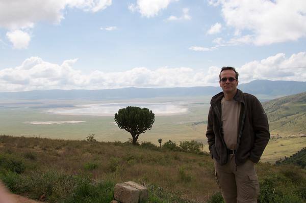 Hans at NgoroNgoro Crater rim