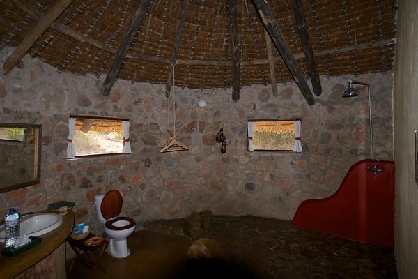 Ruaha River Lodge, our bathroom