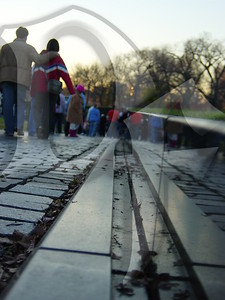 A different view of the Vietnam Veterans Memorial in Washington, DC. 11/2006
