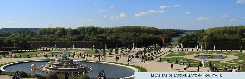 Walking around Versailles Gardens