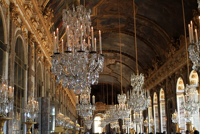 One of the many banquet halls at Versailles