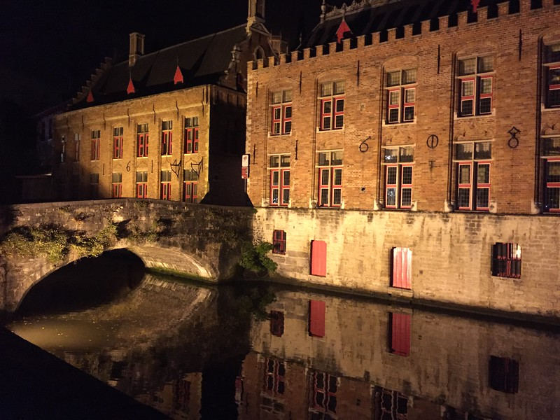 Brugge Canals at Night