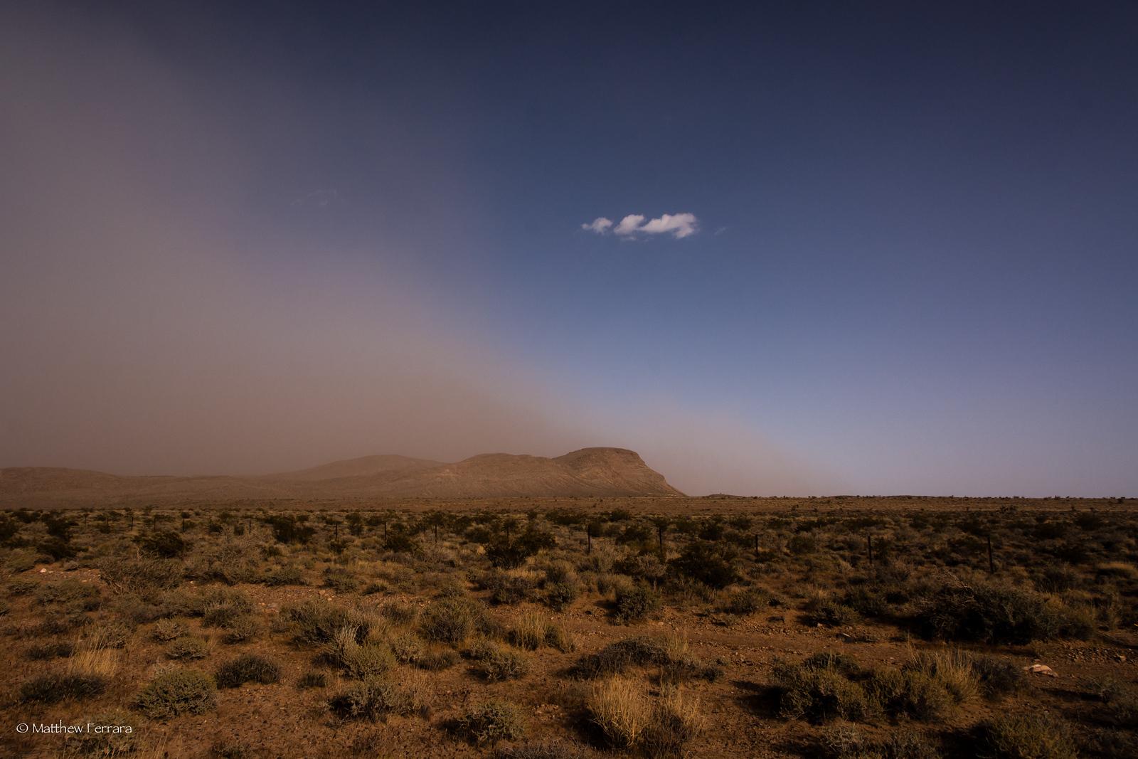 Sand Storm, Las Vegas, Near Red Rock Canyon