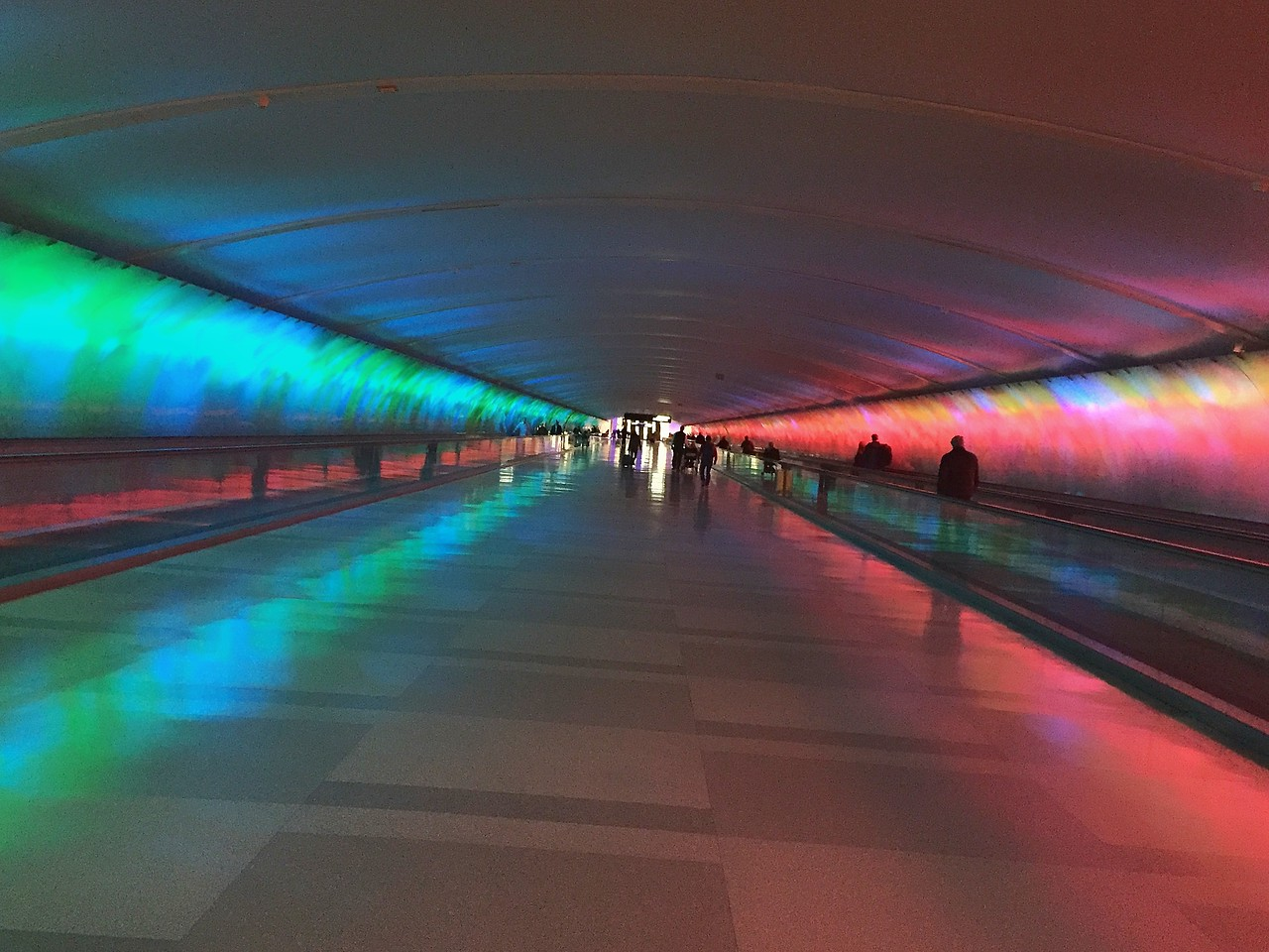 Time Tunnel at Detroit Airport