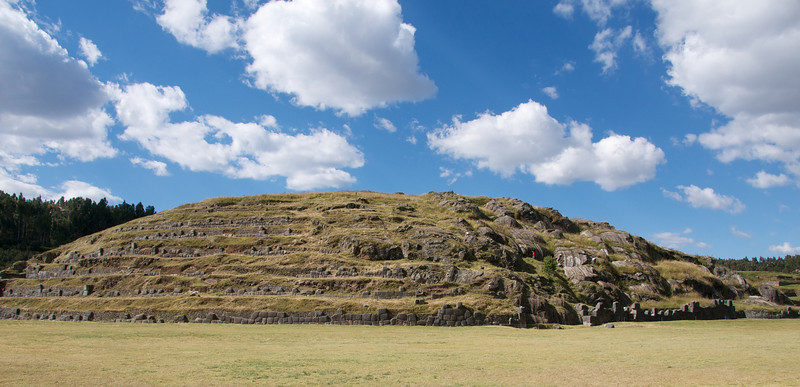 Many of the stones were removed from this site by the Spaniards after conquering the Incas, and used for their own housing.