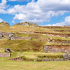 The Saqsaywaman archaeological complex has an area of 7400 acres and is located North of Cusco.