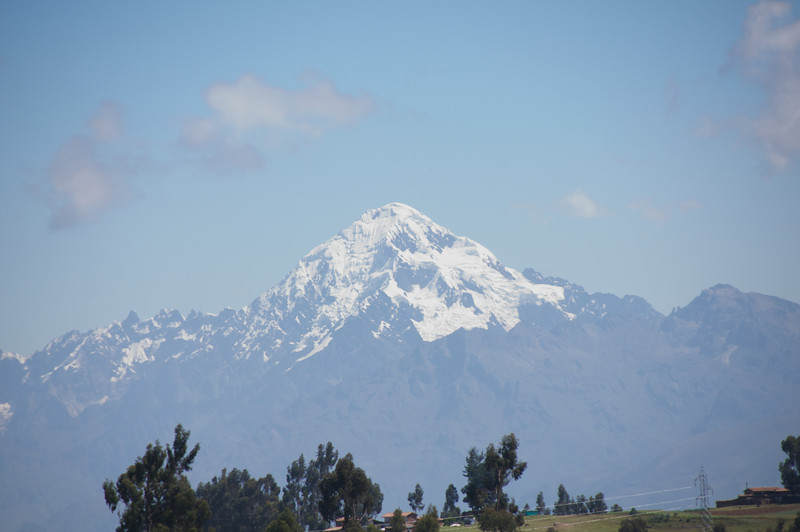 Snow-capped mountain, Sacred Valley.