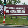 Cuba 2014: Billboard near airport in Havana