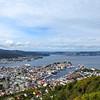 Bergen from the top of Mount Floyen