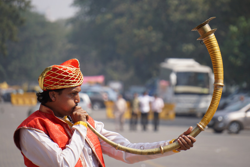 Musical instruments played in grooms procession at Indian Wedding.