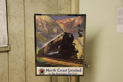 King Street Station.  Old Great Northern - North Coast Limited Sign.