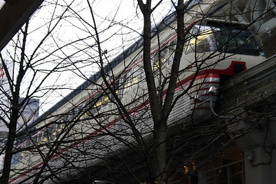 Shots of the Seattle Monorail.