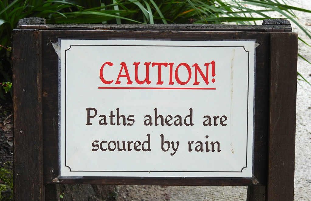 Sign at The Lost Gardens of Heligan, Cornwall